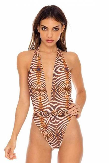 RUCHED ONE PIECE BODYSUIT