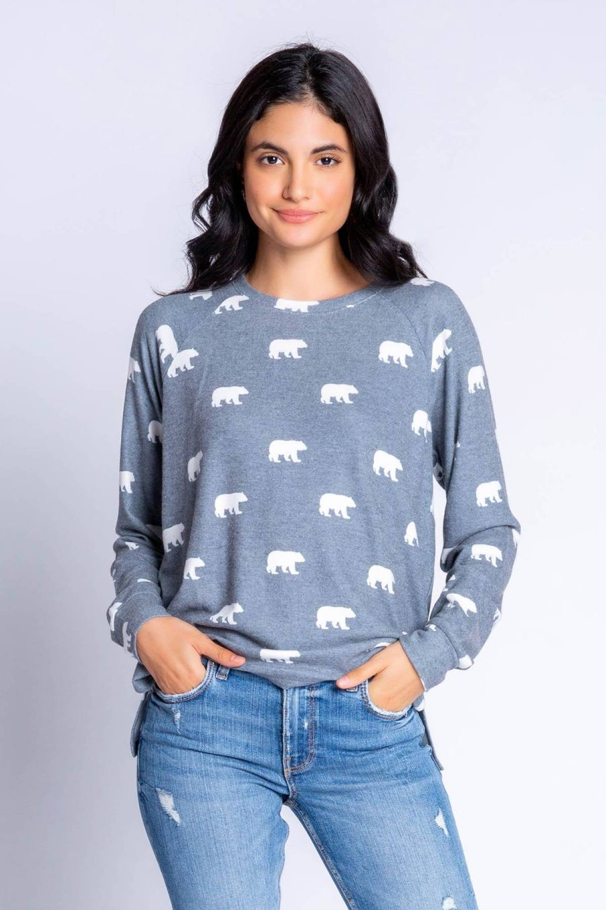 BEAR WITH ME BEAR L/S TOP