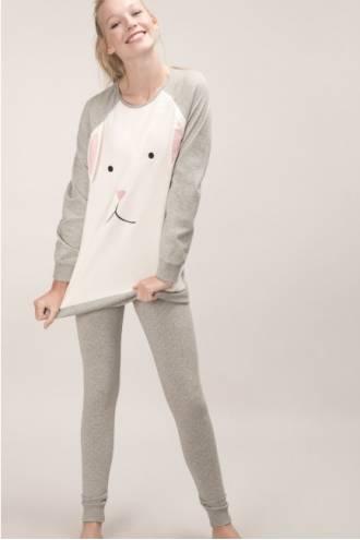 Пижама женская Gisela (футболка, леггинсы)